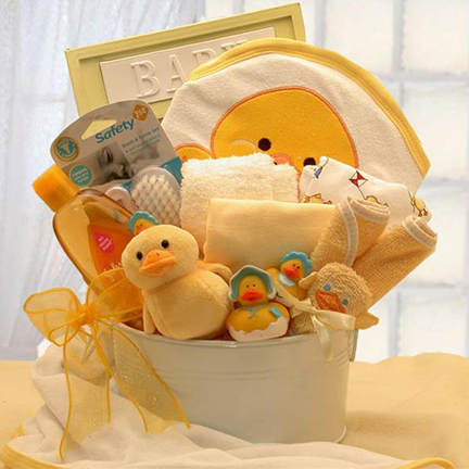 Bath Time Baby Basket